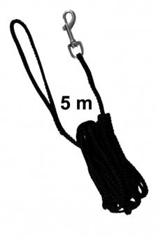 Schleppleine Ø 5 mm Nylon TRIXIE Länge 5 m schwarz Bild 1