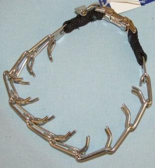 Stachelwürger Halsband 50 cm Edelstahl mit Clickverschluss Bild 1