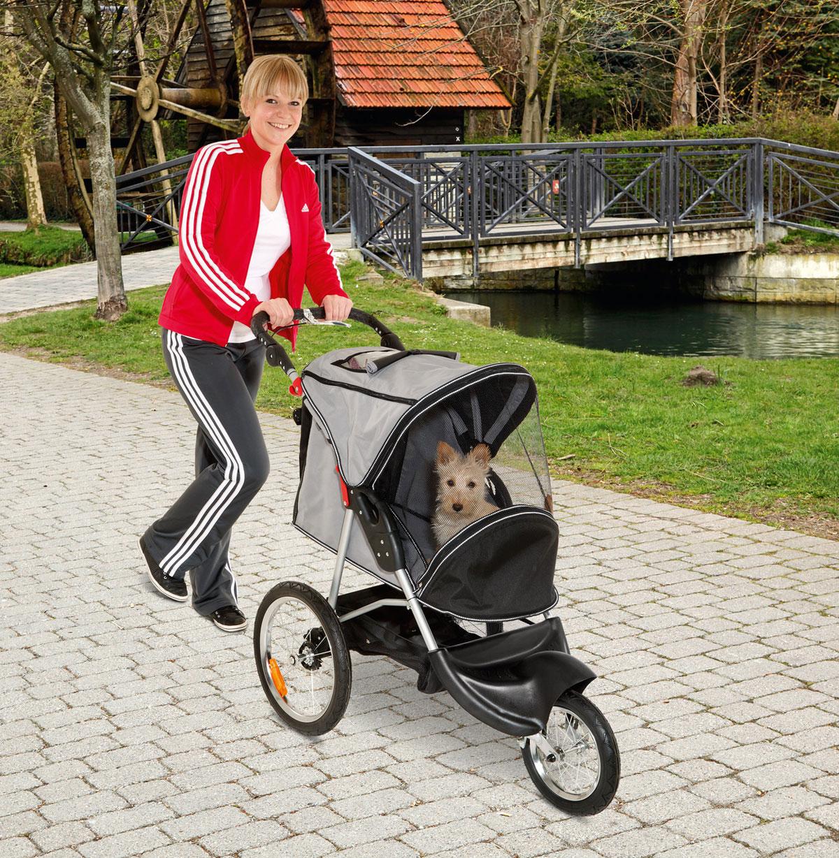 Hundebuggy / Hundewagen Sport Buggy 123x57x105cm schwarz/grau Karlie Bild 2