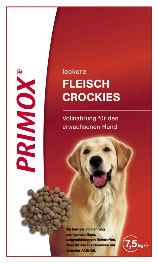 hundefutter trockenfutter primox fleisch crockies 7 5kg. Black Bedroom Furniture Sets. Home Design Ideas