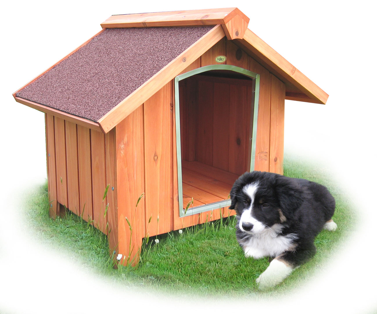 Hundehütte Habau Terrier 102x79x76cm Bild 1