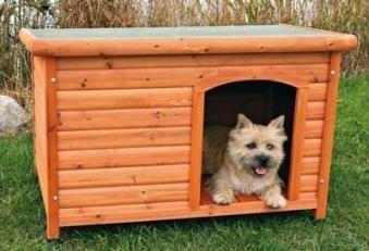 Hundehütte mit Flachdach TRIXIE Größe L 104x72x68cm Bild 1