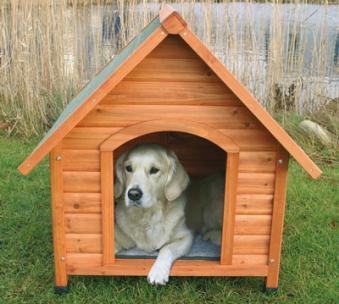 Hundehütte mit Satteldach TRIXIE Größe M 77x82x88cm Bild 1