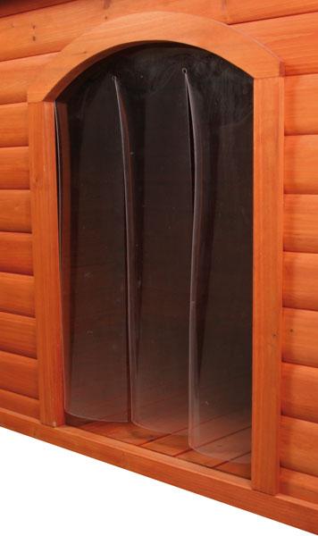 Kunststofftür für Hundehütte mit Flachdach TRIXIE Größe L Bild 1
