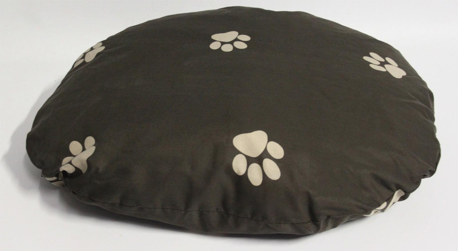 Hundebett / Hundekissen Beo 75x60x10cm oval M320 braun / beige Bild 1