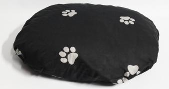 Hundebett / Hundekissen Beo 75x60x10cm oval M321 grau / hellgrau Bild 1