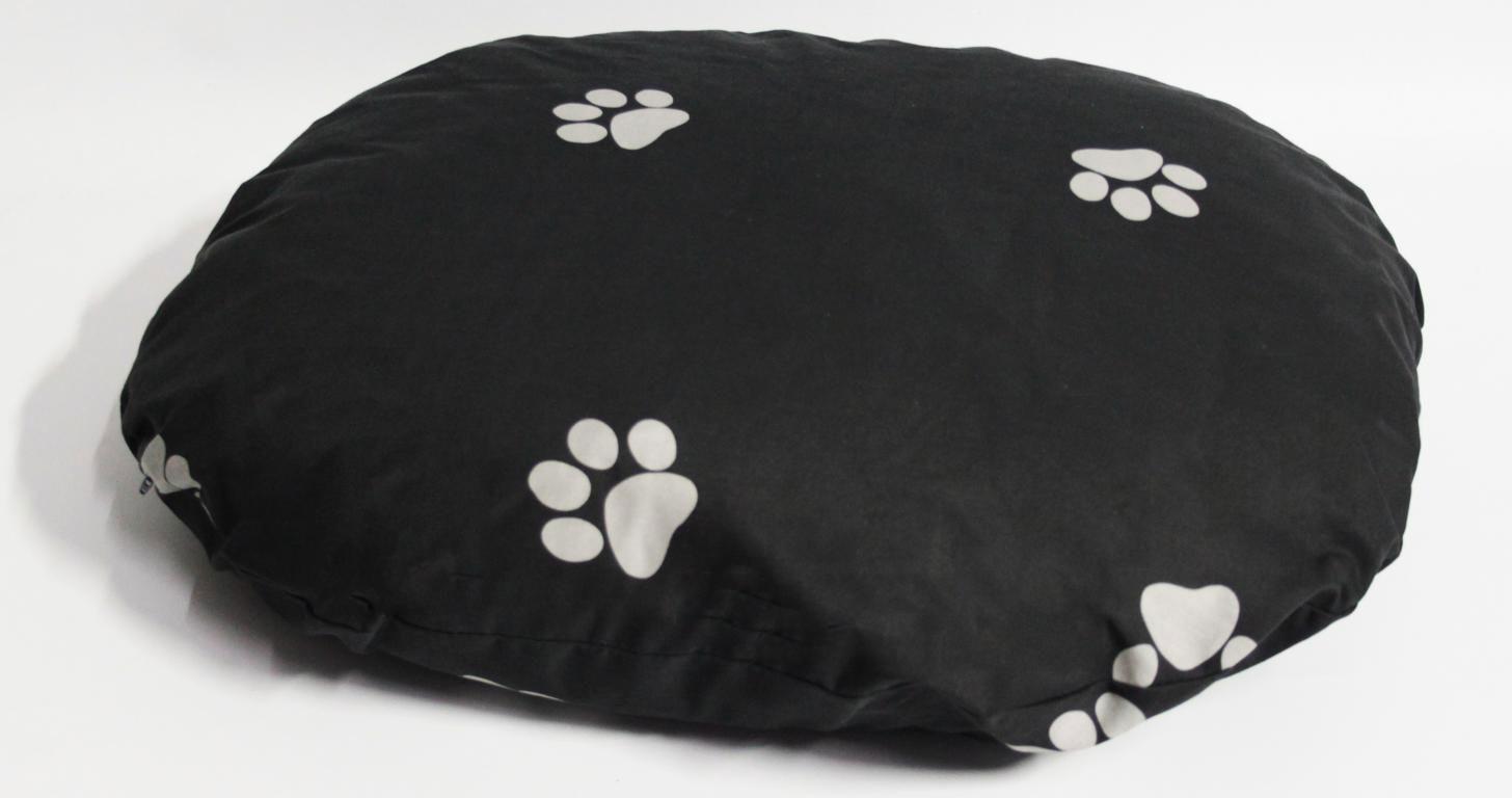 Hundebett / Hundekissen Beo 85x75x8cm oval M321 grau / hellgrau Bild 1