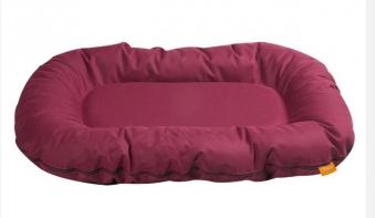 Hundebett / Hundekissen Flamingo Bordeauxbay oval 140x105cm dunkelrot Bild 1