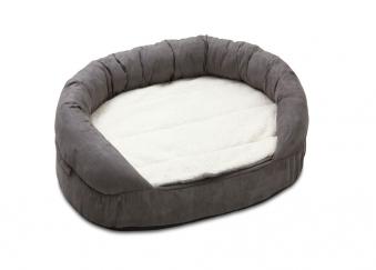 Hundebett / Hundekissen Ortho Bed Oval Karlie 100x65cm grau Bild 1
