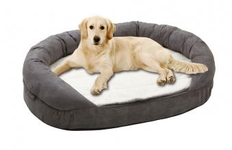 Hundebett / Hundekissen Ortho Bed Oval Karlie 100x65cm grau Bild 2