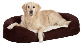 Hundebett / Hundekissen Ortho Bed Oval Karlie 120x72cm braun Bild 1