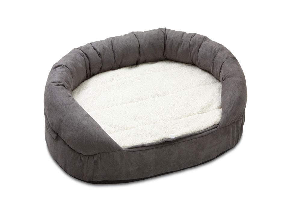 Hundebett / Hundekissen Ortho Bed Oval Karlie 120x72cm grau Bild 1