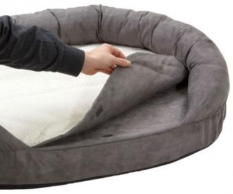 Hundebett / Hundekissen Ortho Bed Oval Karlie 120x72cm grau Bild 3