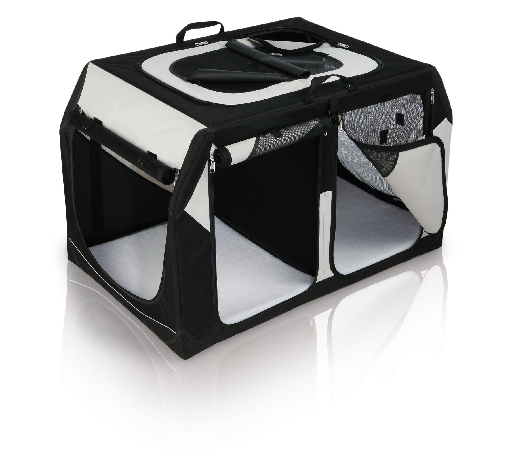 Transportbox Vario Double Gr. S-M TRIXIE schwarz/grau 91x60x61/57cm Bild 1