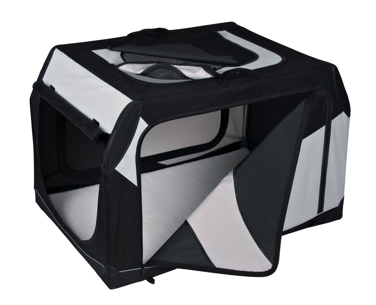 Vario Transportbox Gr. M-L TRIXIE schwarz/grau 91x58x61cm Bild 1