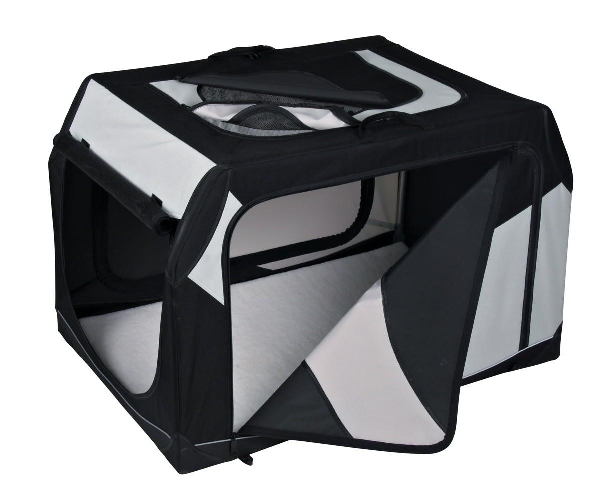 Vario Transportbox Gr. M TRIXIE schwarz/grau 76x48x51cm Bild 1