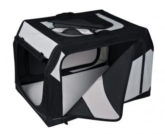 Vario Transportbox Gr. S TRIXIE schwarz/grau 61x43x46cm Bild 1