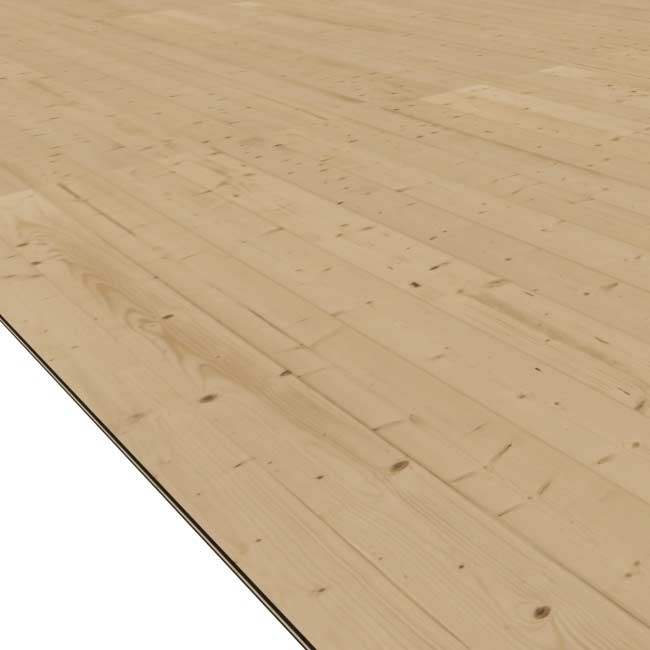 Fußboden 16mm natur für WoodFeeling Hundezwinger Gr. 2 Bild 1