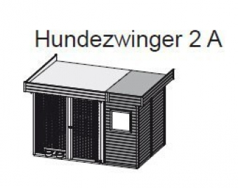 Hundezwinger 2 A 19mm WoodFeeling natur 303x205cm Bild 2