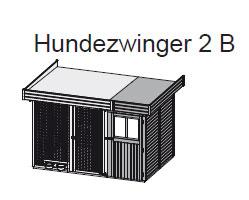 Hundezwinger 2 B 19mm WoodFeeling mit Abstellraum 303x205cm natur Bild 2