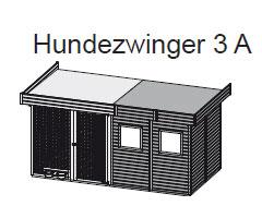 Hundezwinger 3 A 19mm WoodFeeling natur 404x205cm Bild 2