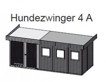 Hundezwinger 4 A 19mm WoodFeeling natur 505x205cm Bild 2