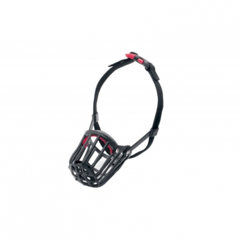 Maulkorb Kunststoff mit Kllckverschluss Gr. 3 schwarz Bild 1