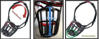 Maulkorb Kunststoff mit Kllckverschluss Gr. 3 schwarz Bild 2