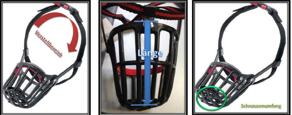 Maulkorb Kunststoff mit Kllckverschluss Gr. 4 schwarz Bild 2