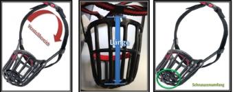 Maulkorb Kunststoff mit Kllckverschluss Gr. 9 schwarz Bild 2