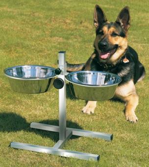 Hundebar Trink- und Fressnapf Edelstahl TRIXIE Ø24cm Bild 1