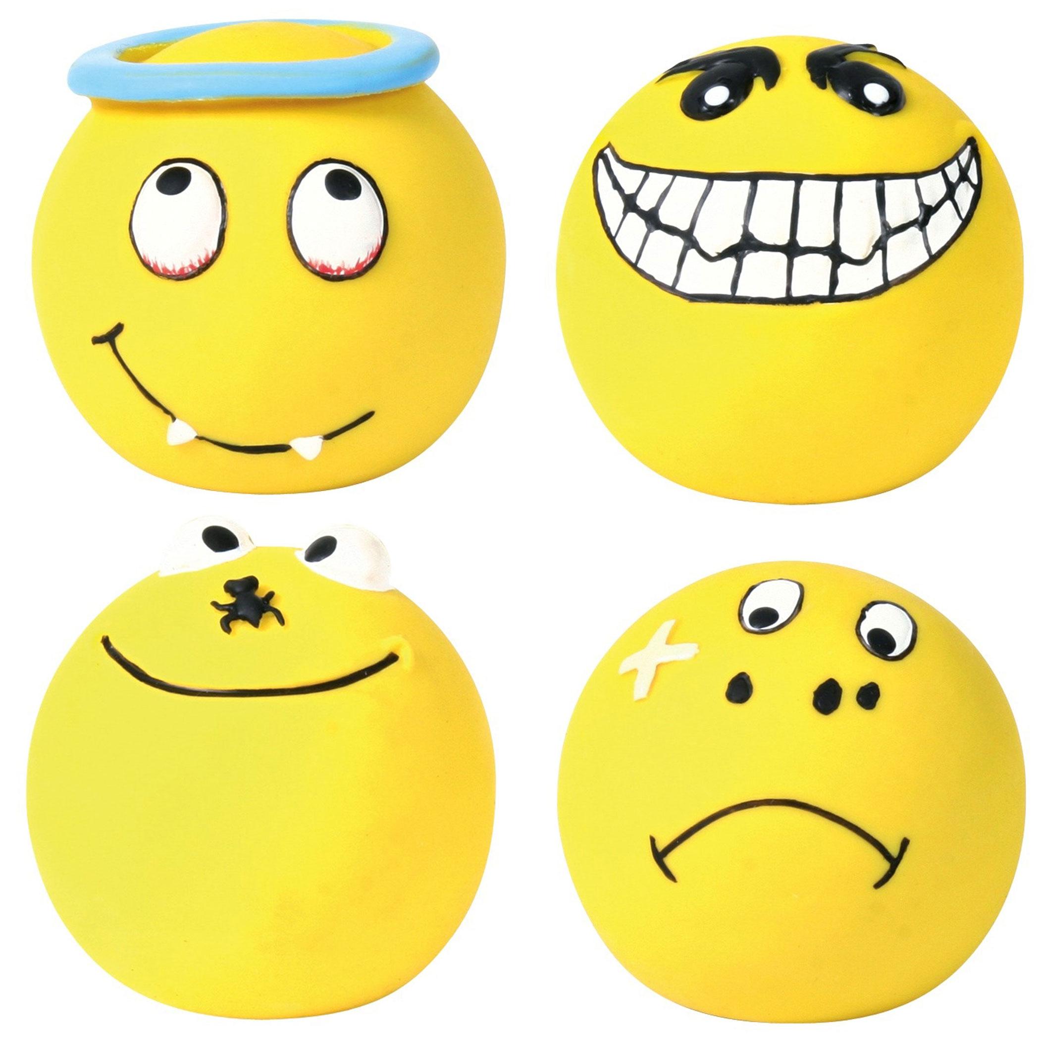 Hundespielzeug Ball Smiley Latex TRIXIE Ø 6 cm Bild 2