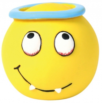 Hundespielzeug Ball Smiley Latex TRIXIE Ø 6 cm