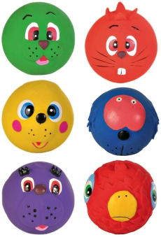 Hundespielzeug Spielball Faces Latex TRIXIE Ø 6 cm Bild 2