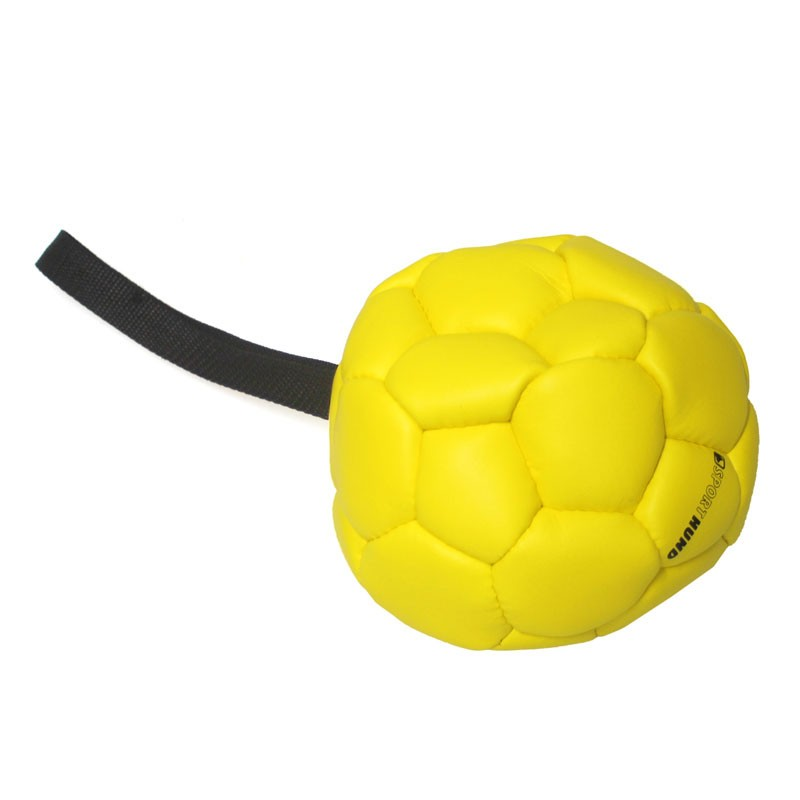 Hundespielzeug Trainingsball mit Handschlaufe Ø180mm Bild 1
