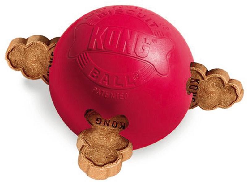 Kong Biscuit Ball Hundespielzeug Größe M rot Bild 1