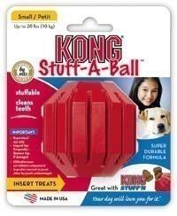 Kong Stuff a Ball Hundespielzeug Größe M zahnpflegend rot Bild 1