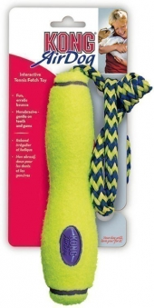 Air Kong Fetch Stick mit Wurftau Größe M 13cm gelb Bild 1