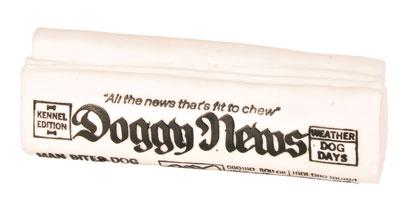 Hundespielzeug Zeitung Doggy News Vinyl TRIXIE 18cm Bild 1