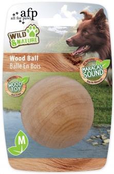 Hundespiezeug W&N Maracas Wood Ball Medium Ø 6,5 cm Bild 1
