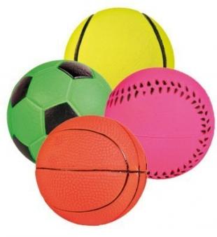 Hundespielzeug Neonball Moosgummi TRIXIE Ø6cm Bild 1