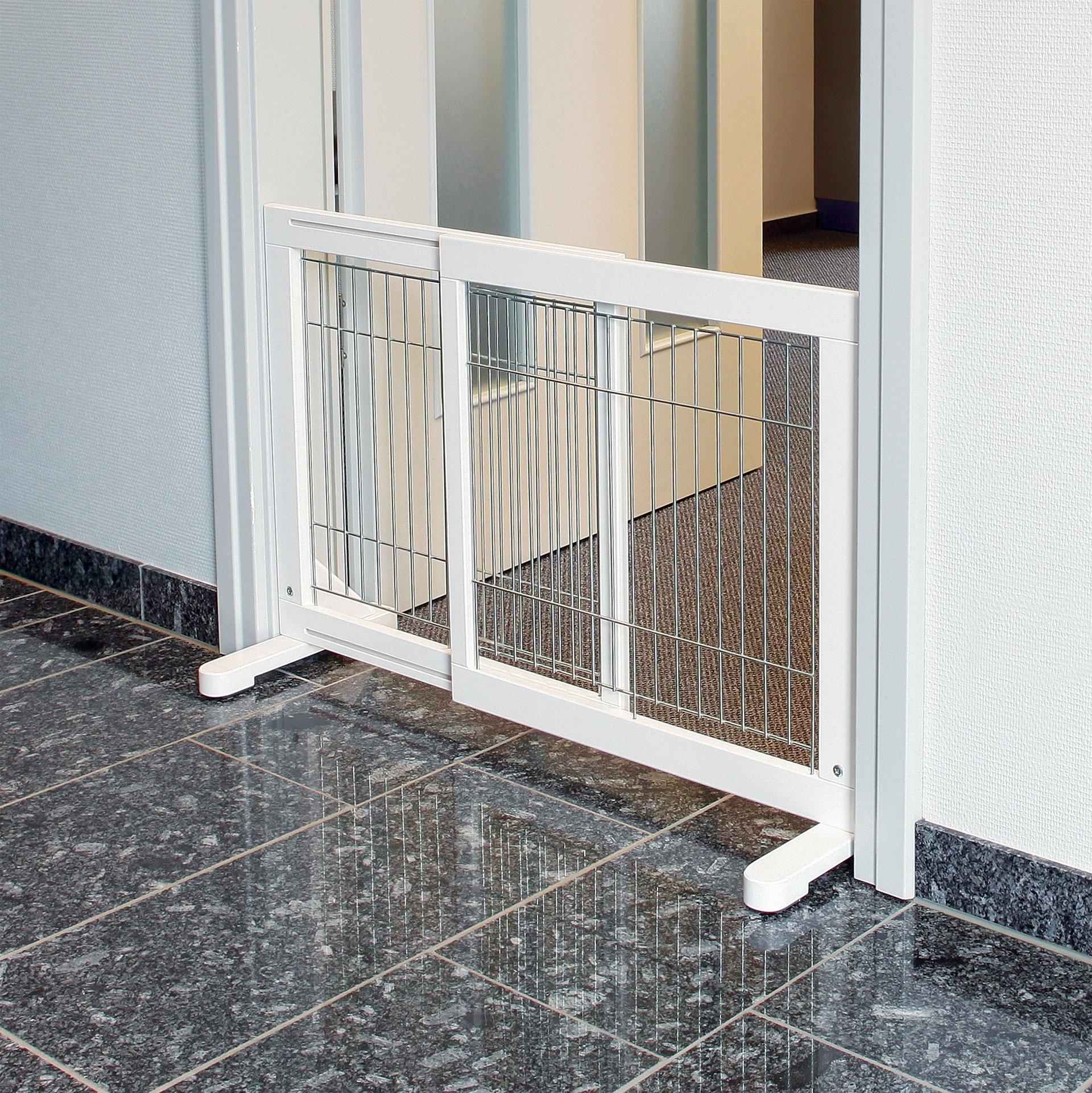 Absperrgitter für Hunde TRIXIE weiß 65-108x61x31cm Bild 2