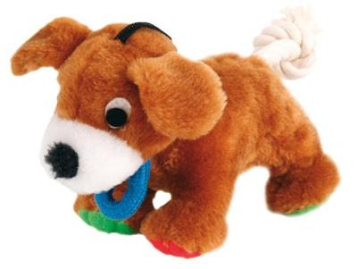 Welpenspielzeug Hund mit Tau Plüsch TRIXIE 17cm Bild 1