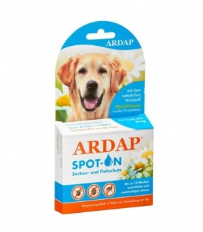 Zecken- und Flohschutz Ardap® Spot on große Hunde 3x4,0ml Bild 1