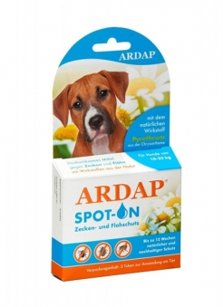 Zecken- und Flohschutz Ardap® Spot on mittlere Hunde 3x2,5ml Bild 1